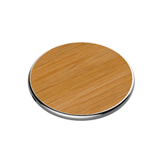 MOSSLOO Round Wood Grain Wireless Charger for iPhones & Android M02Q
